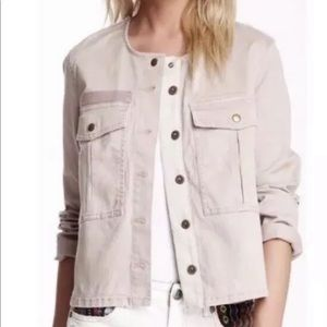 FREE PEOPLE Military Jacket Dusty Pink medium